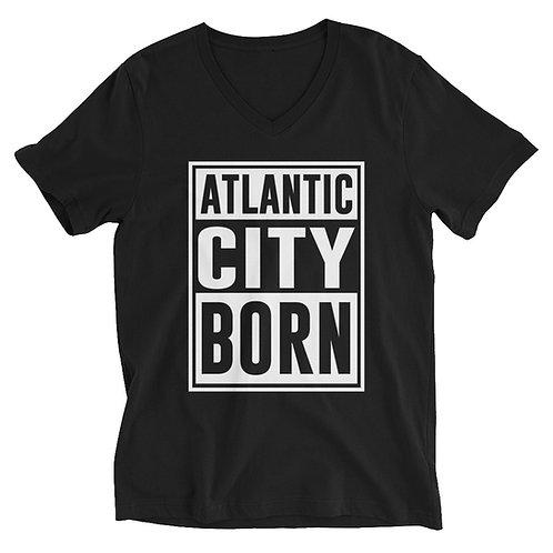 Atlantic City Dark Unisex Short Sleeve V-Neck T-Shirt