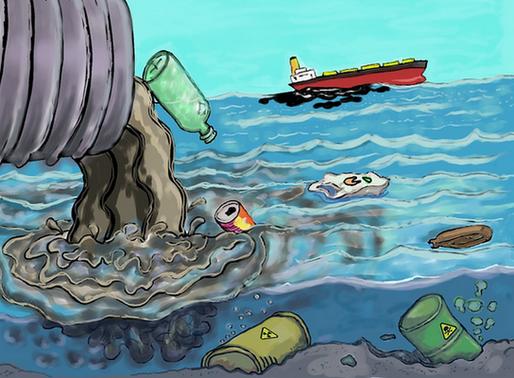 O lixo nos oceanos