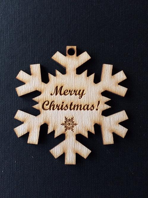 Kerstlabel Ster