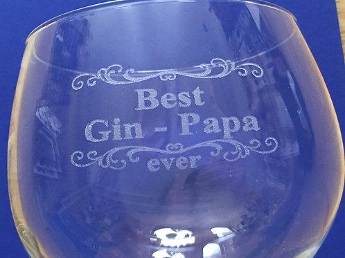 Gepersonaliseerd gin glas