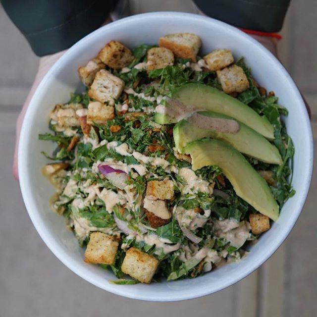 Kale Caesar Salad Vegan