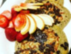 Chocolate Chip + Pancakes = ❤️🔥 #veganb