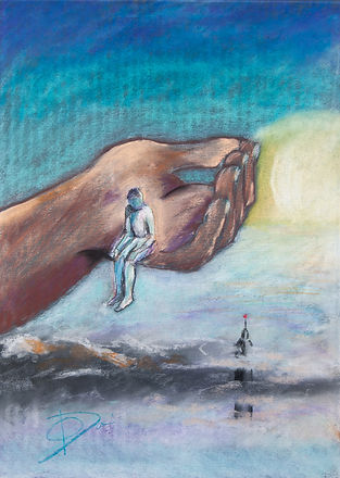 In GOD's hand  / 50x70 pastell