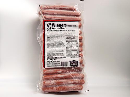 """6"""" Chicken & Beef Wieners"""