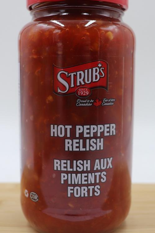 Strub's Hot Pepper Relish