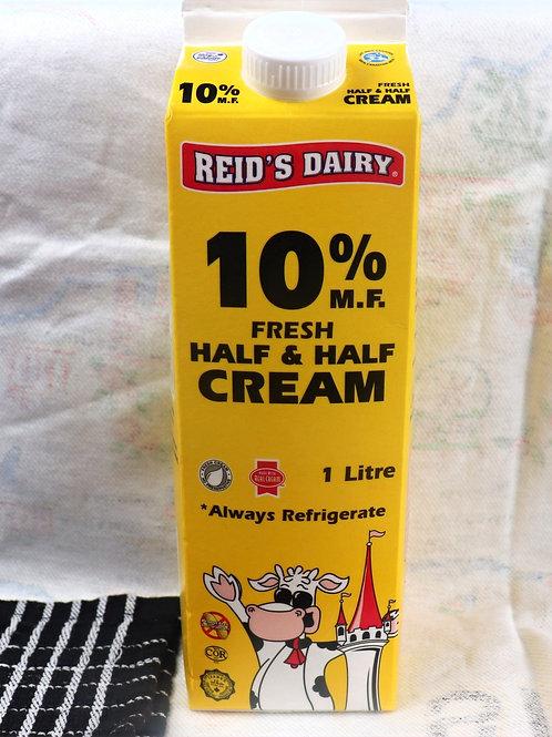 Reid's 10% Half& Half Cream