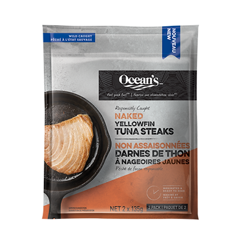 Ocean's Wild CaughtYellowfin Tuna Steaks