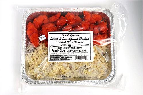 Sweet & Sour Glazed Chicken & Fried Rice Dinner