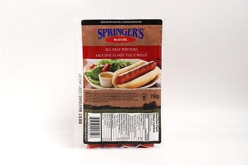 Springers All Beef Wieners