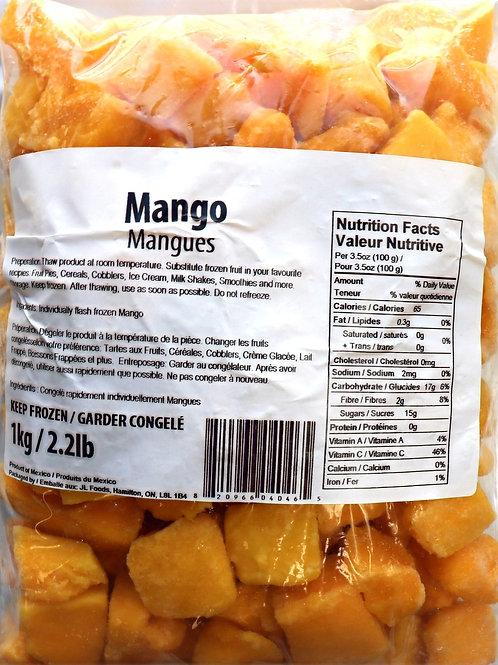 Diced Mangos
