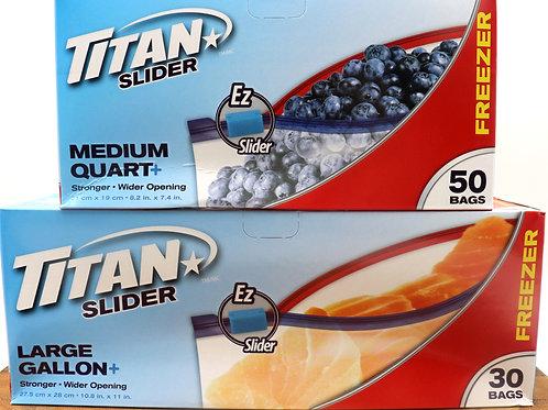 Titan Slider Freezer Bags