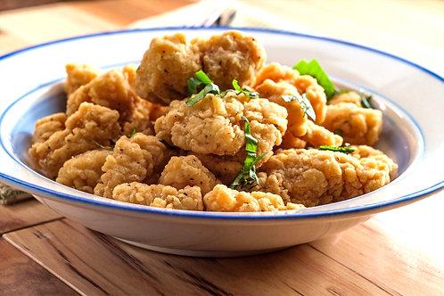 Uncooked, Breaded Popcorn Chicken