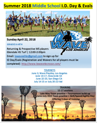 Summer 2018 Middle School Tryouts