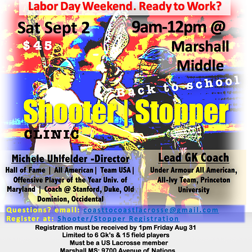 Shooter / Stopper Clinic