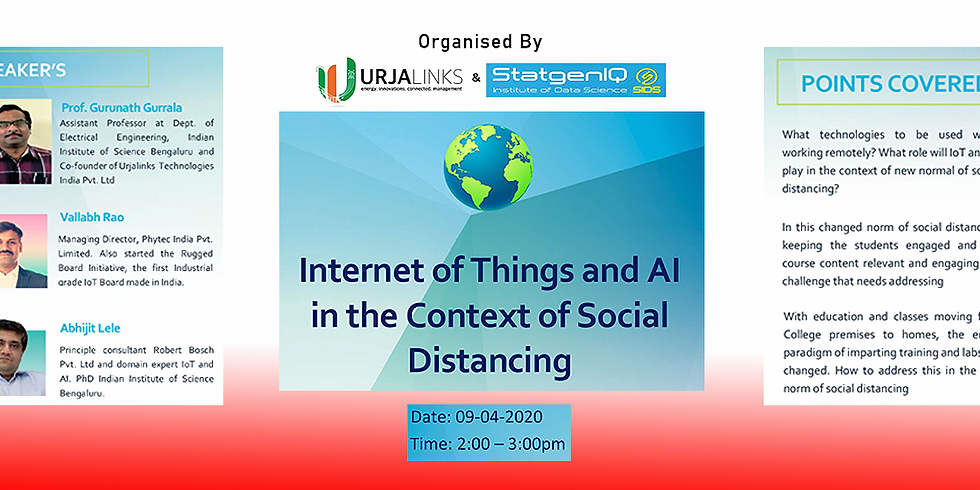 Webinar :: Internet of Things and AI in the Context of Social Distancing