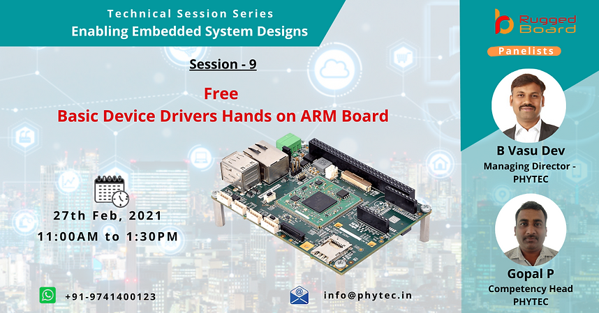 Basic Device Drivers Training on ArmBoar