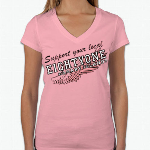 Support 81 Wing Ladies T-Shirt