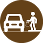 curbside icon tap brown.png