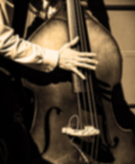 man playing the upright bass