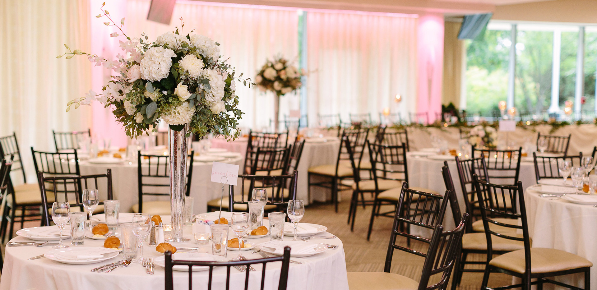 Wedding reception in the Terrace Room