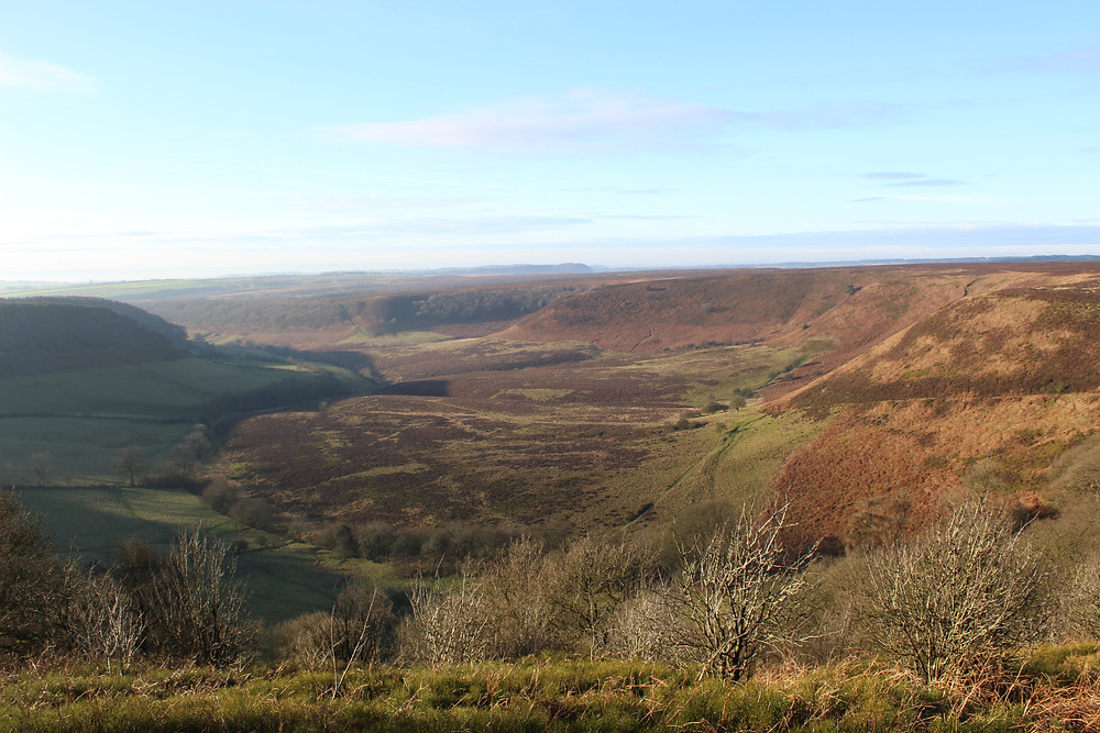View down into the Hole of Horcum, North York Moors National Park