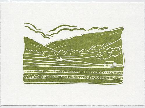 Yorkshire Dales linocut print B