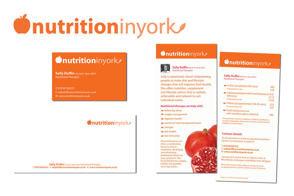 Nutrition in York branding and logo
