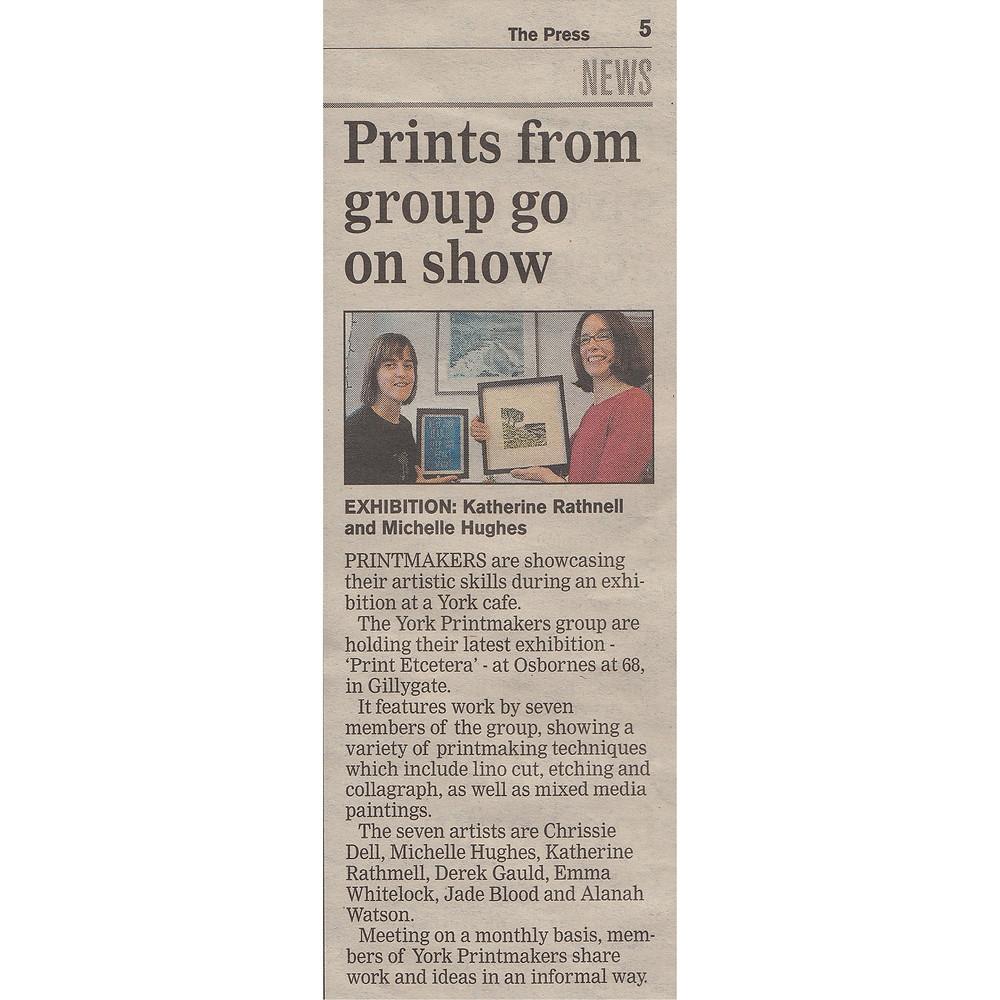 York Printmakers in the York Press