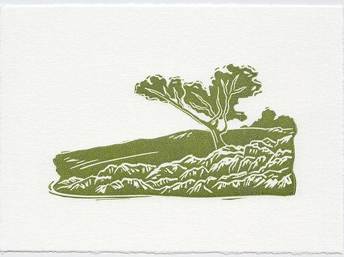 Yorkshire Dales linocut print D