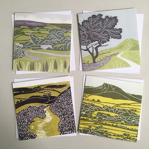 Pack of 4 greetings cards - North York Moors