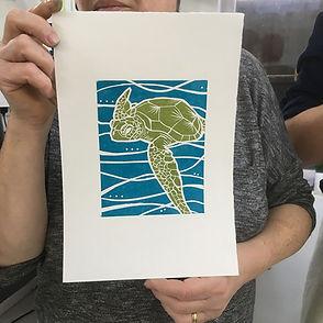 Jigsaw-Linocut-print-workshop-York-2Feb2