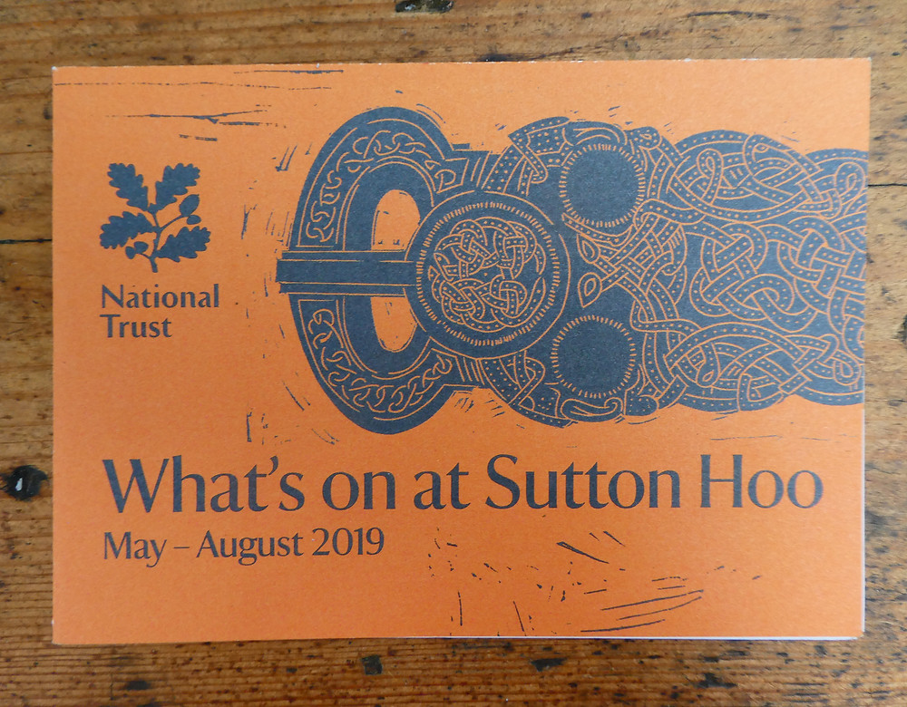 Anglo-Saxon gold belt buckle on 'What's on at Sutton Hoo' leaflet
