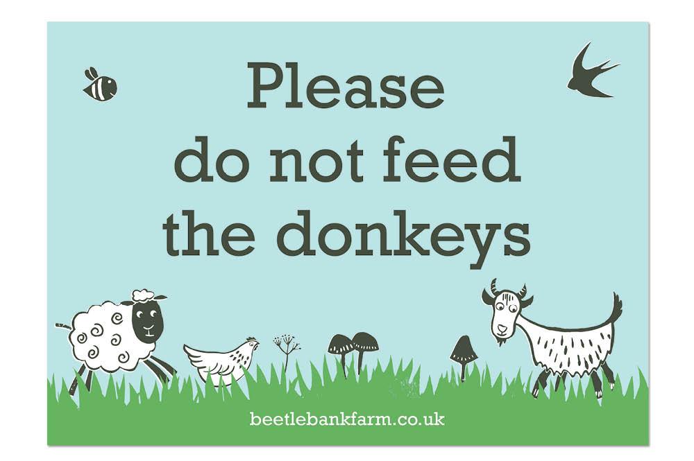 Beetle Bank Open Farm sign