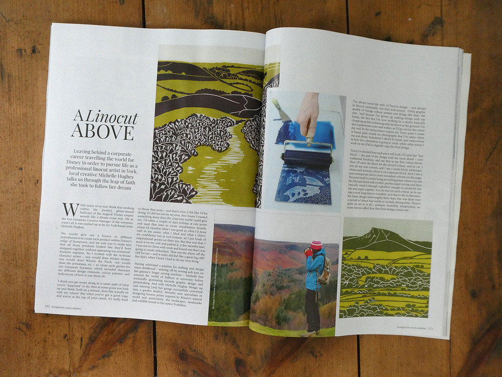 Living North magazine, 'A Linocut Above', November 2019