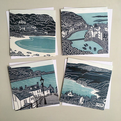 Pack of 4 greetings cards - Yorkshire Coast 3