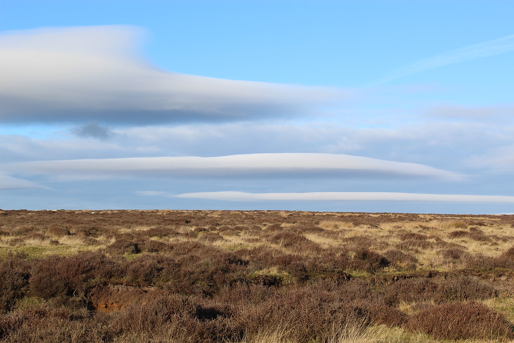 Lenticular clouds, Hole of Horcum, North York Moors National Park