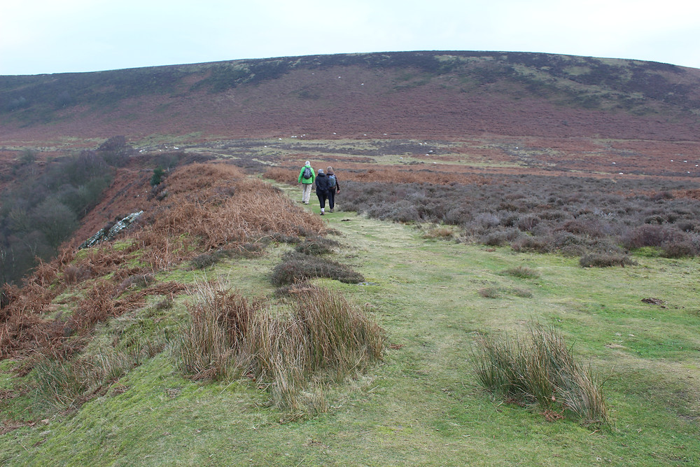 Walking along the Hole of Horcum, North York Moors National Park