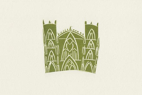 York Minster linocut print -Green
