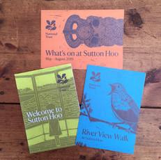 Suttton Hoo linocut print