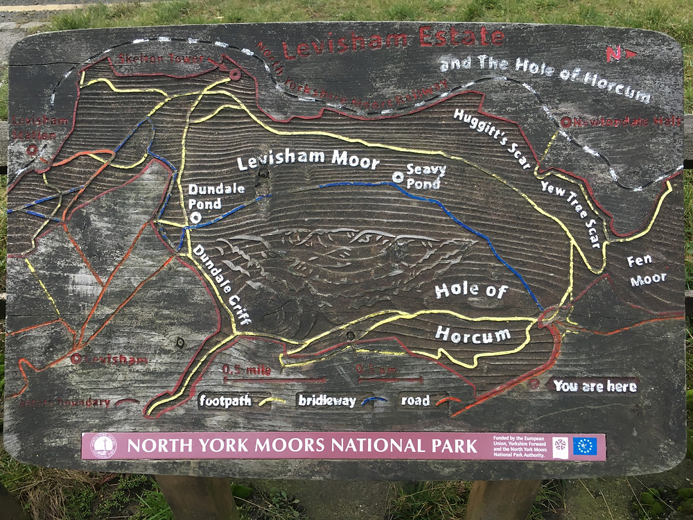 Map of the Hole of Horcum, North York Moors National Park
