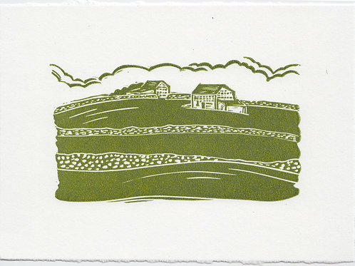 Yorkshire Dales linocut print A