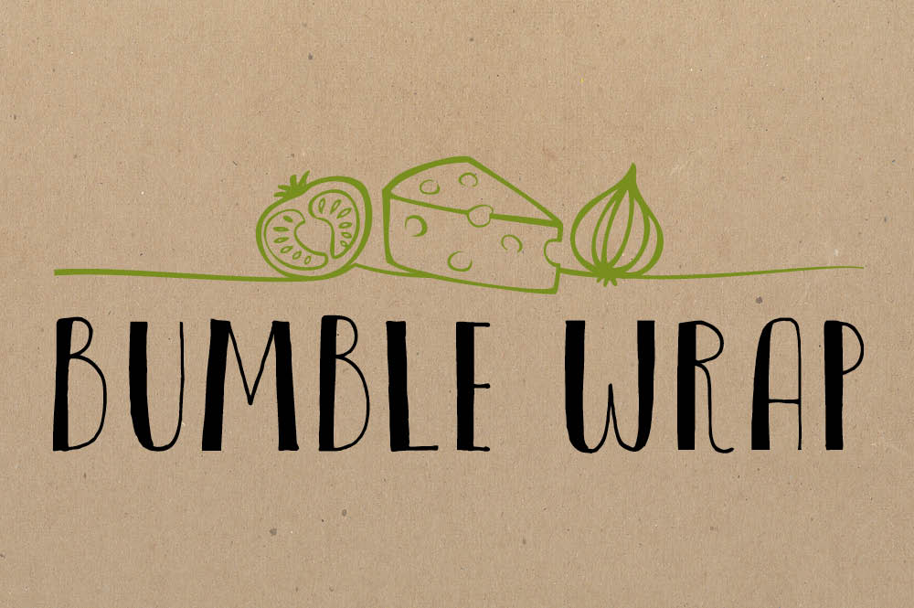 Bumble Wrap logo and branding