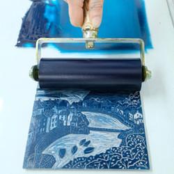 Michelle Hughes hand printing