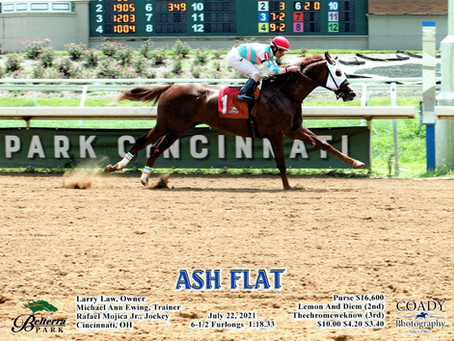 Ash Flat: First win for Larry Law!