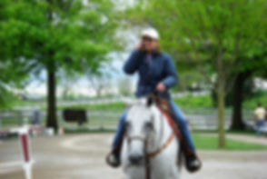 Michael on Kaelin at Keeneland.JPG