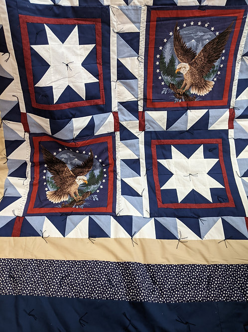 Eagles and Stars in Blue