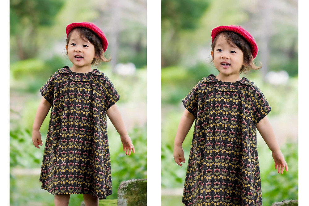赤い帽子をかぶった女の子