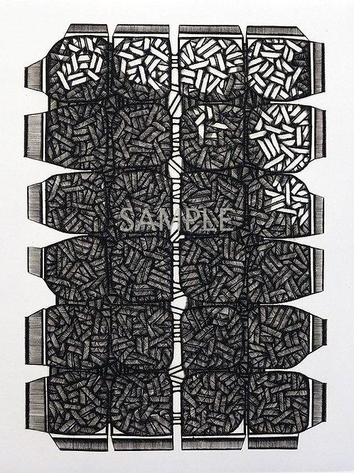 ビュラン銅版画 / SADAMI AZUMA