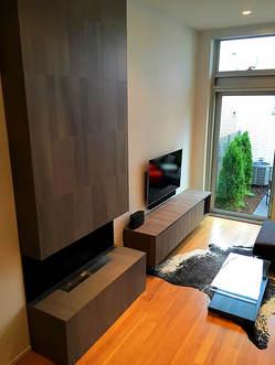 Sleek & Dramatic Custom Fireplace