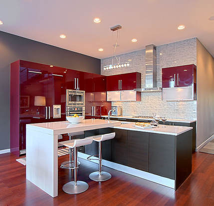 Penthouse River North Kitchen